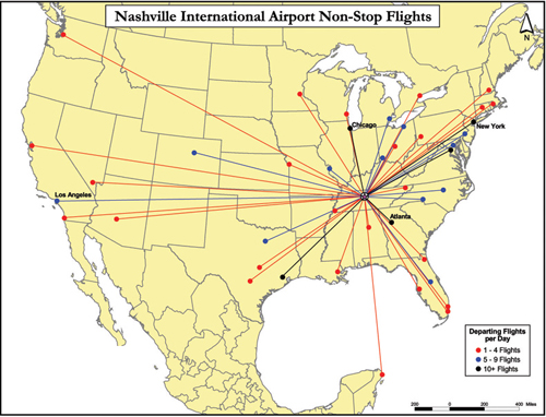 nashville airport map